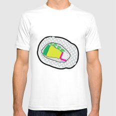 Sushi SMALL White Mens Fitted Tee
