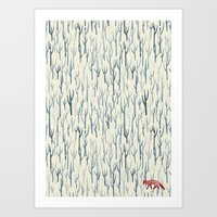wood Art Prints featuring Winter Wood by littleclyde