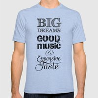 BIg DREAMS Mens Fitted Tee Tri-Blue SMALL