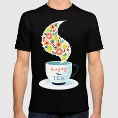Enjoy the Tea Mens Fitted Tee Black SMALL