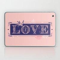 love type swallow Laptop & iPad Skin
