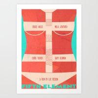 The Fifth Element Leeloo Art Print