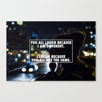 Being Different Canvas Print