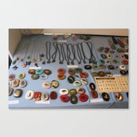 Stones and Jewelry at a Shop Downtown Canvas Print