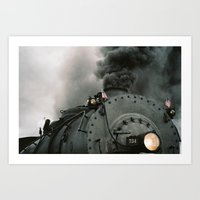 Engine 734 Art Print