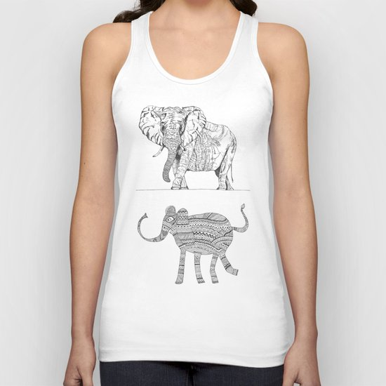 two ways to see one elephant Unisex Tank Top