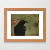 Dark Crow Celebration Framed Art Print