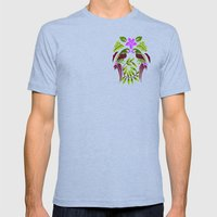 Talking To My Twin Mens Fitted Tee Tri-Blue SMALL