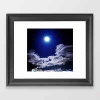 Signs in the Sky Collection I- in its original deep blue Framed Art Print