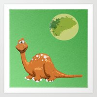 Dino Doodle Art Print