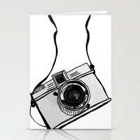 White Moodie Lomo Stationery Cards