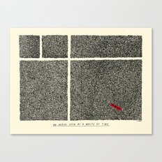An Aerial View of a Waste of Time Canvas Print