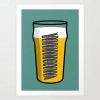 The Golden Mile Art Print