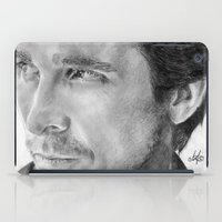 Christian Bale Traditional Portrait Print iPad Case