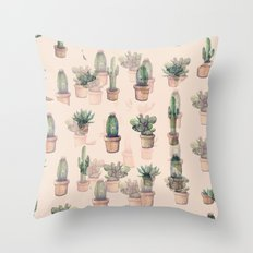 cactus mirror?? Throw Pillow
