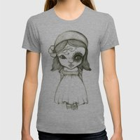 Tattooed Girl Womens Fitted Tee Athletic Grey SMALL