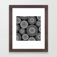 Mandala Negative Framed Art Print