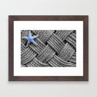 Starfish on the Ropes Framed Art Print