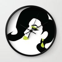 profile - green Wall Clock