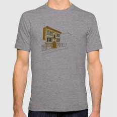 Yellow San Francisco Haus Mens Fitted Tee Athletic Grey SMALL