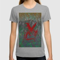 Phoenix Flame Womens Fitted Tee Athletic Grey SMALL