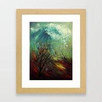 Wellen, die von der Unteren... Framed Art Print