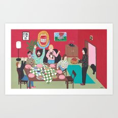 Salsa Exvoto Art Print