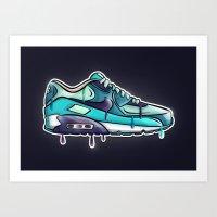 Nike air drop Art Print