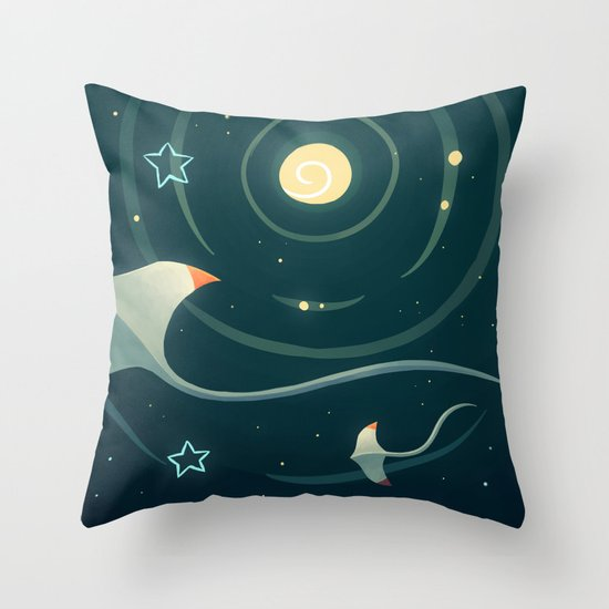 Space Ray Throw Pillow