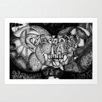 Broken Gargoyle Art Print