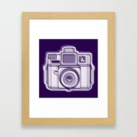 I Still Shoot Film Holga Logo - Reversed Deep Purple Framed Art Print