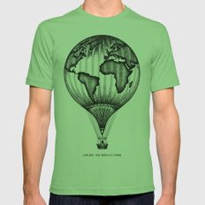 EXPLORE. THE WORLD IS YOURS. Mens Fitted Tee Grass SMALL