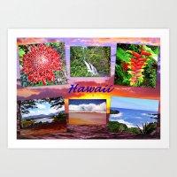 hawaii Art Prints featuring Hawaii by Art-Motiva