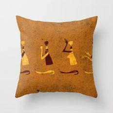 Forms of Prayer - Yellow Throw Pillow
