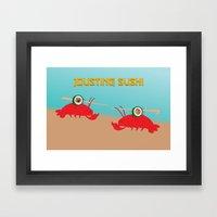 Jousting Sushi Framed Art Print