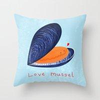Love Mussel Throw Pillow