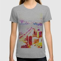 kobecity Womens Fitted Tee Athletic Grey SMALL