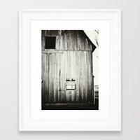 Barn Black & White Framed Art Print