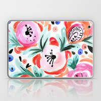 Tropical Sunrise Morning Glory Boho Watercolor Floral Laptop & iPad Skin