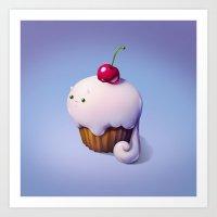 Art Snacks: The Cupcake … Art Print