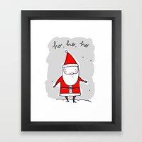 Christmas Ho, Ho, Ho (color) Framed Art Print