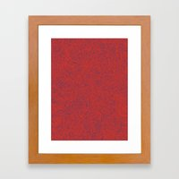 Abstract #002 Cells (Red) Framed Art Print