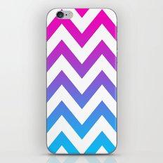 PINK & TEAL CHEVRON FADE iPhone & iPod Skin