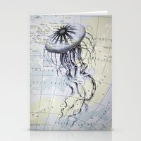 Jellyfish in the South Pacific Stationery Cards