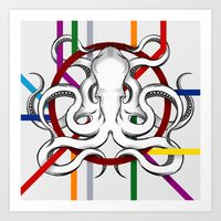 Octopus/metro Art Print