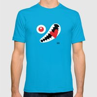 EYE LOVE Mens Fitted Tee Teal SMALL