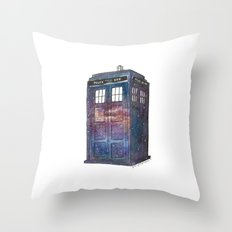 Doctor Who Galaxy Tardis Throw Pillow