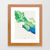 Seattle Colored Framed Art Print