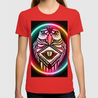 Night Hawk Womens Fitted Tee Red SMALL