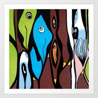 the SECRET MEETING of the ALTERED MINDS Art Print